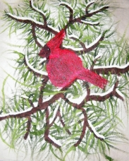 The Cardinal in the Snow