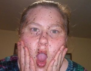 Oh no!  What has happened to my face!?  Nah, its all good.  That black stuff is just the coffee grounds.